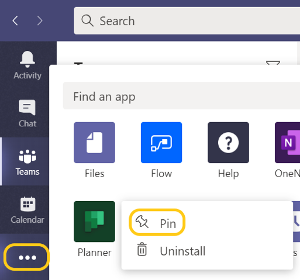I-Experts - blog - Microsoft Teams nieuwe functies - applicaties vastpinnen