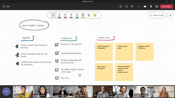 I-Experts - blog - Microsoft Teams nieuwe functies - whiteboard